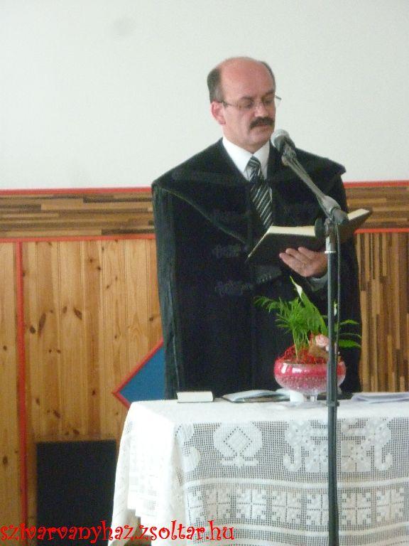 Dr. Gaál Sándor a Nyírségi Református Egyházmegye esperese