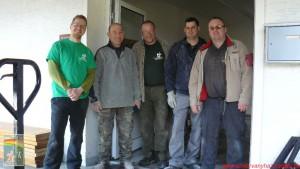 Balról jobbra: Fejszés Dániel, Hollósi Ferenc, Fischbach Reinard, Szűcs M Sándor